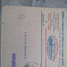 Sellos: SOBRE GRANDES ALMACENES DE FERRETERÍA LA FERRETERA AFRICANA. MELILLA. Lote 173647469