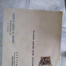 Sellos: SOBRE CENTRAL DE COMPRAS DE CHATARRA. BILBAO. VIÑETA EXPOSCIÓN INDUSTRIA COMERCIO 1935. Lote 174078239
