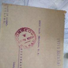 Sellos: SOBRE BANCO DE BILBAO. CENSURA MILITAR CORRESO. VIÑETA 10 CTS 1937, 19 DE JUNIO 1938. Lote 174078324
