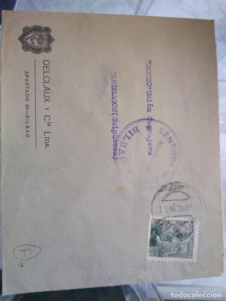 SOBRE DELCLAUX Y CIA BILBAO. CENSURA MILITAR MARTES BILBAO. (Sellos - España - II República de 1.931 a 1.939 - Usados)