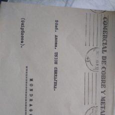 Sellos: SOBRE COMERCIAL DE COBRE Y METALES S A BILBAO. Lote 174080434