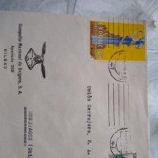 Sellos: SOBRE COMPAÑÍA NACIONAL DE OXÍGENO BILBAO. VIÑETA EXPOSICIÓN INDUSTRIA Y COMERCIO 1935. Lote 174080922