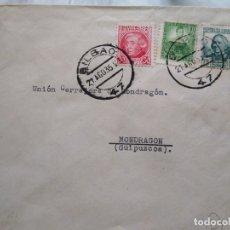 Sellos: SOBRE CON FRANQUEO CURIOSO. REMITE BILBAO.. Lote 174081177