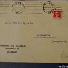 Sellos: SOBRE BANCO DE BILBAO 1935. Lote 174978249