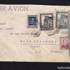 Sellos: F28-34- GUERRA CIVIL. CARTA BARCELONA -FRANCIA 1938. CENSURA . Lote 175026894