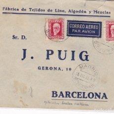 Selos: F28-2- CARTA SECCIÓN NOCTURNA MADRID -BARCELONA 1933. BONITO FRANQUEO. Lote 175028339