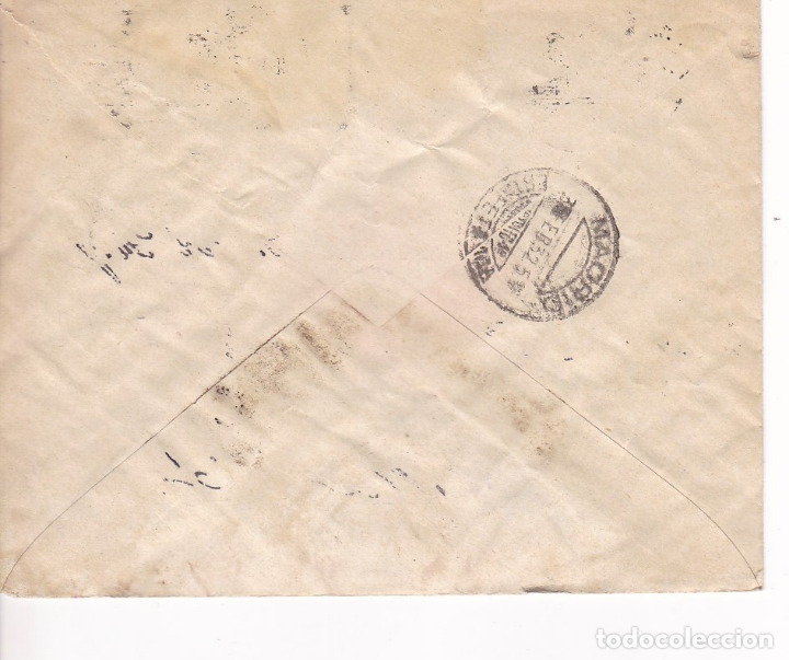 Sellos: F28-37- Carta Barcelona- Madrid 1932. FRANQUEO MIXTO - Foto 2 - 175029204