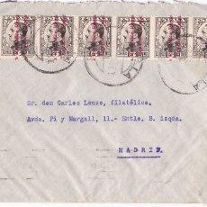 Sellos: F28-37- CARTA MELILLA 1934. BONITO FRANQUEO CON TIRA 6 . Lote 175029357