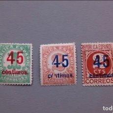 Sellos: V- ESPAÑA - 1938 - II REPUBLICA - EDIFIL 742/744 - SERIE COMPLETA - MNH** - NUEVOS - VALOR CAT. 40€.. Lote 175047533
