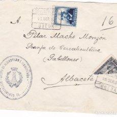 Timbres: F28-2- GUERRA CIVIL . CERTIFICADO UBEDA 1937. MARCA GRUPO ALUMBRADO E ILUMINACIÓN. BISECTADO. Lote 175056334