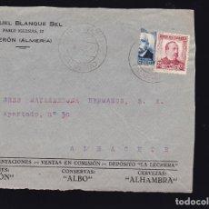 Sellos: F28-43-FRONTAL PUBLICITARIO SERÓN (ALMERÍA) 1937 . BISECTADO. Lote 175059899
