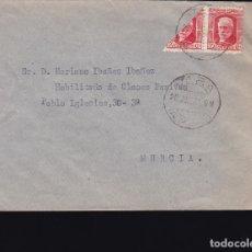 Sellos: F28-44- CARTA VERA (ALMERÍA) 1937 . BISECTADO. Lote 175061215
