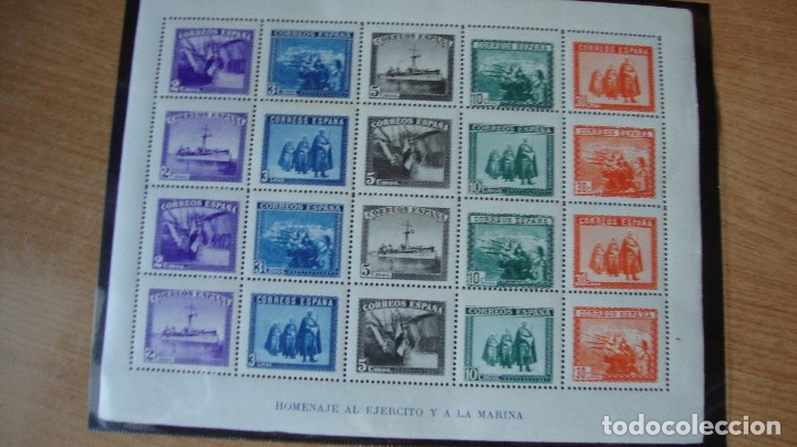 ESPAÑA CONJUNTO 1938 EDIFIL H-849 SERIE 10 VALORES CORTADOS VER DESCRIPCION FOTOS (Sellos - España - II República de 1.931 a 1.939 - Nuevos)