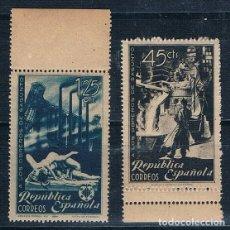 Sellos: ESPAÑA 1938 OBREROS DE SAGUNTO 773/774 SERIE MNH**. Lote 175148703