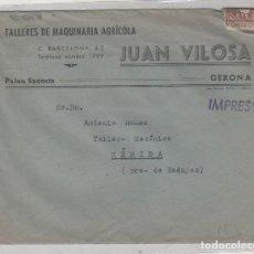 Sellos: SOBRE TALLERES DE MAQUINARÍA AGRÍCOLA JUAN VILOSA. GERONA. . Lote 175795898