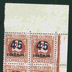 Sellos: ESPAÑA 1938 - EDIFIL 744 BLOQUE 4. Lote 175864537