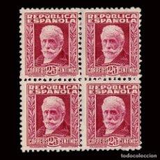 Sellos: SELLOS. ESPAÑA. II REPÚBLICA 1931-1932. PERSONAJES.25C CARMÍN LILA.BLOQUE 4.NUEVO**. EDIF. Nº 667. Lote 175885330