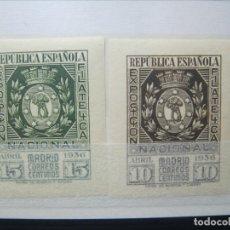 Sellos: ESPAÑA 1936 EXPOSICION FILATELICA MADRID ED. 727/728 ** MNH LUJO!. Lote 175917777