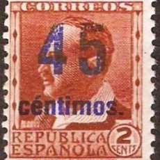 Sellos: EDIFIL NE28A**NUEVO ( 80,00 € ) SOBRECARGA AZUL. Lote 176855507