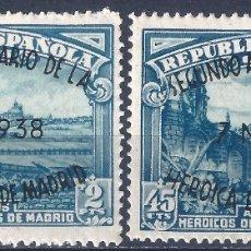 Sellos: EDIFIL 789 II ANIVERSARIO DE LA DEFENSA DE MADRID 1938 (VARIEDADES EN LA SOBRECARGA). LUJO. MNH **. Lote 177046580