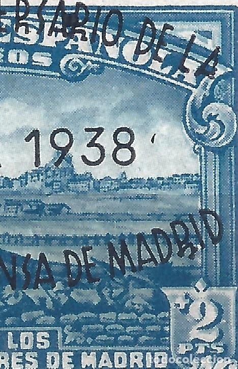 Sellos: EDIFIL 789 II ANIVERSARIO DE LA DEFENSA DE MADRID 1938 (VARIEDADES EN LA SOBRECARGA). LUJO. MNH ** - Foto 2 - 177078100