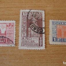Sellos: ESPAÑ 1937 AÑO JUBILAR COMPOSTELA EDIFIL 833/35 USADOS. Lote 177724883