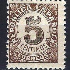 Sellos: ESPAÑA 1938 - CIFRAS 5 CENTIMOS - EDIFIL 745 - MNH** NUEVO. Lote 177861638