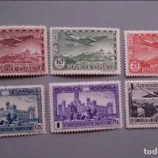 Sellos: T-ESPAÑA - 1931 - II REPUBLICA - EDIFIL 614/619 - SERIE COMPLETA - MH* - NUEVOS.. Lote 178065279