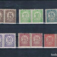 Sellos: ESPAÑA 1938 CIFRAS EDIFIL 745/750 NUEVOS MNH** DOBLE. Lote 178238747