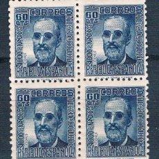 Sellos: ESPAÑA 1936/1939 BLOQUE DE 4 NUEVOS MNH** EDIFIL 739*. Lote 178239257
