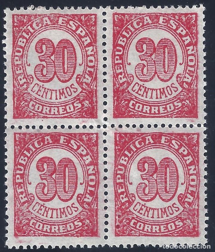 EDIFIL 750 CIFRAS 1938 (BLOQUE DE 4). MNH ** (Sellos - España - II República de 1.931 a 1.939 - Nuevos)