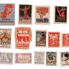 Sellos: M110 LOTE 14 VIÑETAS BARCELONA FERIAS, CONGRESOS Y SIMILARES – 1920'S/30'S/40'S. Lote 178710032