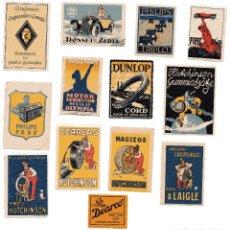 Sellos: M114 LOTE 13 VIÑETAS PROPAGANDA AUTOMOVIL Y REPUESTOS: DUNLOP,PHILIPS,FIAT,DONNET – 1920'S/30'S/40'S. Lote 178710698