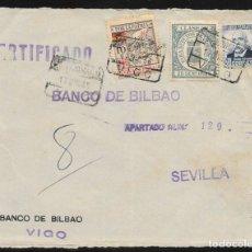 Sellos: 1936.- VIGO (PONTEVEDRA) A SEVILLA.. Lote 178791141