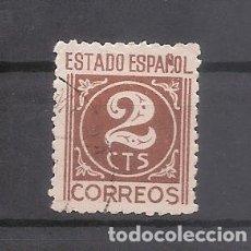 Sellos: SELLO REPUBLICA ESPAÑOLA 2 CTS, NUMEROS, AÑO 1938 USADO. Lote 178982518
