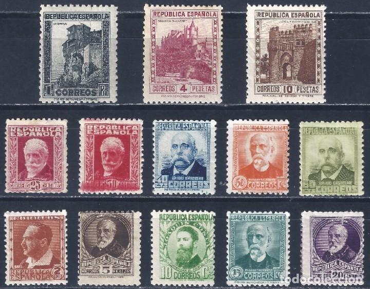 EDIFIL 662-675 PERSONALES Y MONUMENTOS 1932 (SERIE COMPLETA). VALOR CATÁLOGO: 310 €. LUJO. MNH ** (Sellos - España - II República de 1.931 a 1.939 - Nuevos)