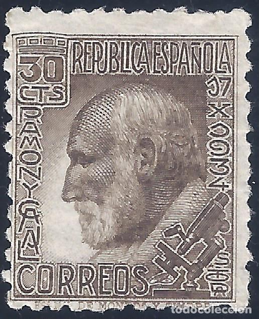 EDIFIL 680 SANTIAGO RAMÓN Y CAJAL 1934. VALOR CATÁLOGO: 27 €. LUJO. MLH. (Sellos - España - II República de 1.931 a 1.939 - Nuevos)