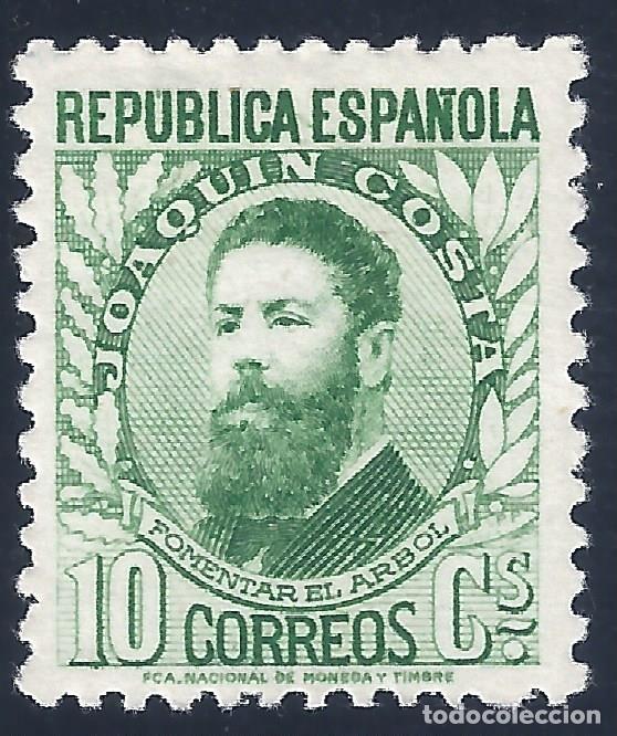 EDIFIL 656 PERSONAJES (JOAQUÍN COSTA) 1931-1932. MH * (Sellos - España - II República de 1.931 a 1.939 - Nuevos)
