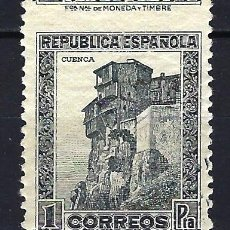 Sellos: ESPAÑA 1932 - MONUMENTOS 'CUENCA' - 1 PESETA- EDIFIL 673 - MNH** NUEVO SIN FIJASELLO. Lote 179542858