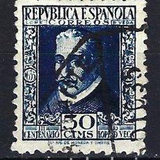 Sellos: ESPAÑA 1935 - PERSONAJES LOPE DE VEGA - 50 CÉNTIMOS - EDIFIL 692 - USADO. Lote 179545150