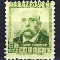 Sellos: ESPAÑA 1932 - PERSONAJES EMILIO CASTELAR - 60 CÉNTIMOS - EDIFIL 672 - MNH** NUEVO SIN FIJASELLOS. Lote 179548105