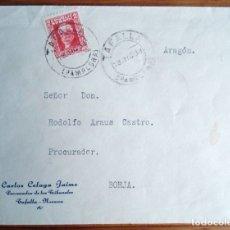 Sellos: MATASELLO TAFALLA PAMPLONA NAVARRA PABLO IGLESIAS SOBRE 1934 CARLOS CELAYA JAIME PROCURADOR. Lote 180457785