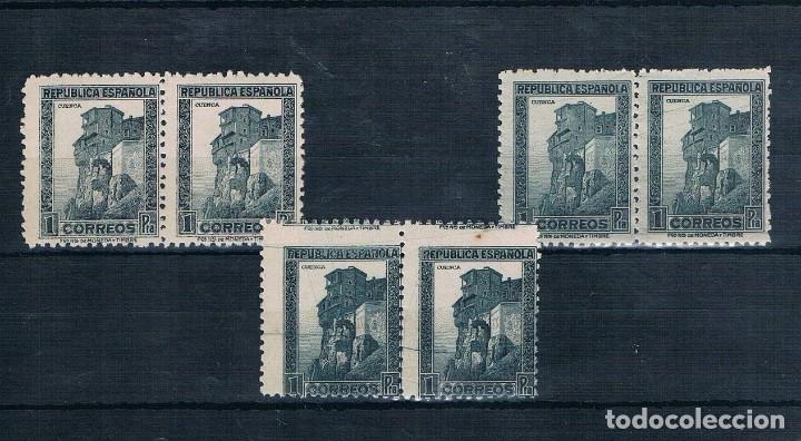 ESPAÑA 1938 EDIFIL 770** MNH** TRES SELLOS CUENCA VARIEDAD DE COLOR DOBLE (Sellos - España - II República de 1.931 a 1.939 - Nuevos)