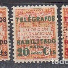 Sellos: BARCELONA-TELÉGRAFO. X 1/3. TIPO HABILITADO,. Lote 181019746