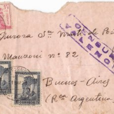 Sellos: CARTA CON CENSURA REPUBLICANA VALENCIA: DE CATARROJA A BUENOS AIRES (11 MAR 1939) GUERRA CIVIL. Lote 181400857