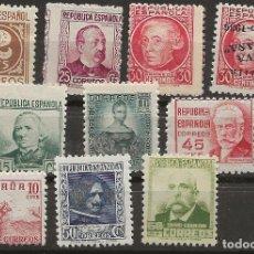 Sellos: R8.G-SUB/ ESPAÑA, PERSONAJES REPUBLICA ESPAÑOLA, MNH**. Lote 181917920