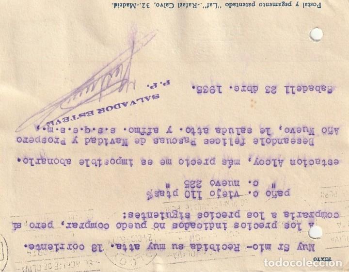 Sellos: TARJETA POSTAL PRIVADA (1935) - Foto 2 - 182002550