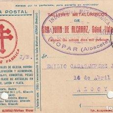 Sellos: TARJETA POSTAL PRIVADA (CONMEMORACIÓN DEL III ANIVERSARIO DE LA MUERTE DE LOPE DE VEGA 15 CTS)(1935). Lote 182003172