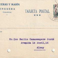 Sellos: TARJETA POSTAL PRIVADA (ALFONSO XIII SOBRECARGADOS REPÚBLICA ESPAÑOLA) (1932). Lote 182003701
