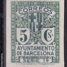 Sellos: RR20 - AYUNTAMIENTO BARCELONA EDIFIL 9S. SIN DENTAR. (*). LUJO. Lote 182050510